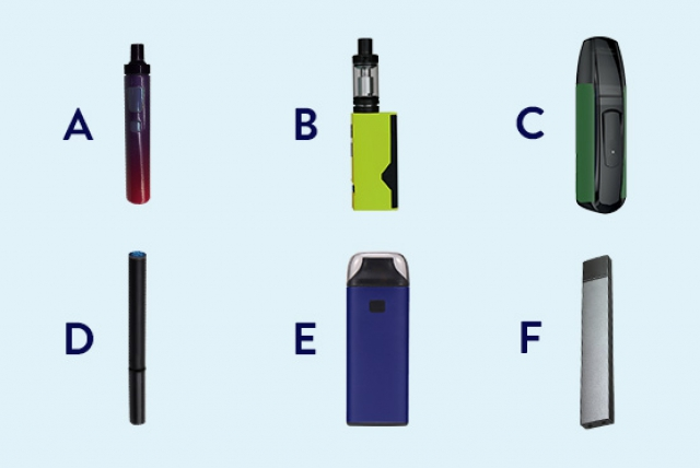 Which of the examples below is an electronic cigarette?